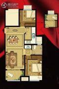 书香华府2室2厅1卫86平方米户型图