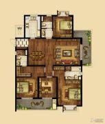 海峡城4室2厅3卫184平方米户型图