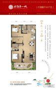 中信国安・北海第一城3室2厅2卫116平方米户型图