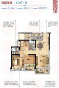 碧桂园华府(龙江)3室2厅2卫104平方米户型图