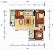 滨江国际3室2厅2卫104平方米户型图