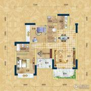 精通・伊顿国际2室2厅2卫105平方米户型图