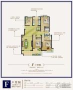 港城尚府3室2厅1卫135平方米户型图
