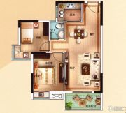 海泉湾2室2厅1卫75平方米户型图