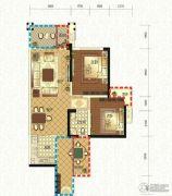 领地・国际公馆2室2厅1卫84平方米户型图