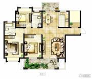 冠城大通棕榈湾3室2厅2卫129平方米户型图
