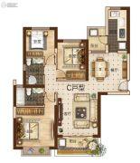 曲靖恒大绿洲3室2厅2卫123平方米户型图