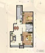 首创・新悦都2室2厅1卫75平方米户型图