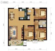 尚贤府3室2厅2卫117平方米户型图