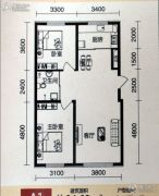 中泽城2室2厅1卫0平方米户型图