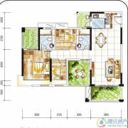 金碧丽江西海岸3室2厅2卫110平方米户型图