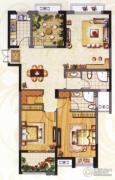 阳光龙庭2室2厅2卫120平方米户型图