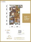 城市之光3室2厅2卫110平方米户型图
