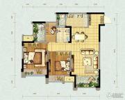 北大资源燕南2室2厅1卫71平方米户型图