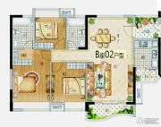 益华・山海郡3室2厅2卫115--125平方米户型图