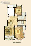 保利西塘越3室2厅1卫95平方米户型图