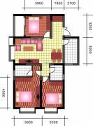中天优诗美地3室2厅1卫128平方米户型图