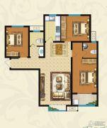 华普城3室2厅2卫0平方米户型图