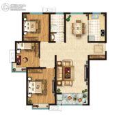 鑫苑・鑫中心3室2厅1卫0平方米户型图