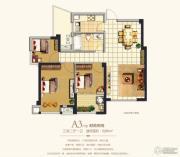 香开新城3室2厅1卫86平方米户型图
