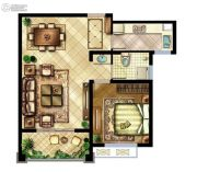 中国铁建原香漫谷1室2厅1卫0平方米户型图