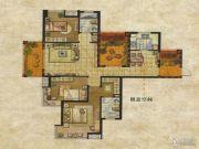 达安上品花园3室2厅2卫136平方米户型图