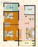 富泰城2室1厅1卫86--87平方米户型图
