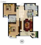 正德君城2室2厅1卫0平方米户型图