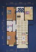 绿都花庭3室2厅2卫145平方米户型图