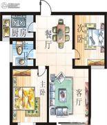 漯河翰林世家2室2厅1卫0平方米户型图