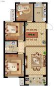 秀兰・禧悦都3室2厅1卫112平方米户型图