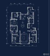 中建・国熙台3室2厅3卫200平方米户型图