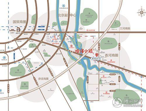 五矿万科·哈洛小镇交通区位图