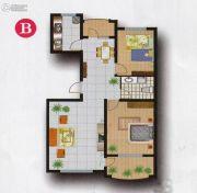 欧典・宏峪2室2厅1卫107平方米户型图