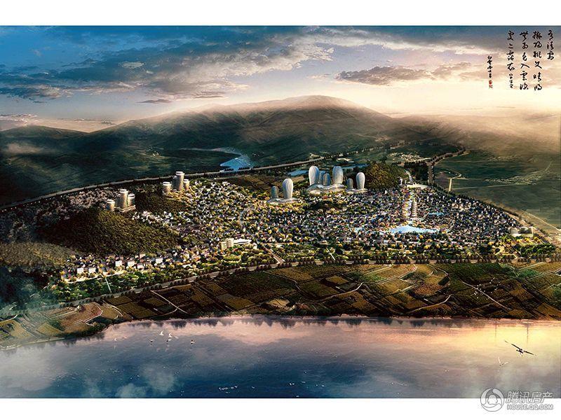 抚仙湖·广龙小镇鸟瞰图