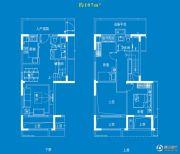 中航樾府3室2厅2卫107平方米户型图