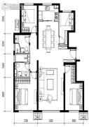 金地悦风华4室2厅2卫138平方米户型图