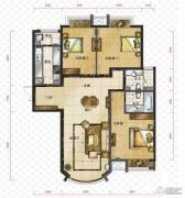 新华联运河湾3室2厅2卫135平方米户型图