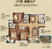 金域香颂3室2厅2卫133平方米户型图