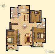 浩创梧桐郡3室2厅2卫141平方米户型图