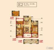 锦成・壹号公馆3室2厅2卫95平方米户型图