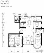 天润福熙大道4室2厅3卫251平方米户型图