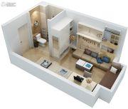 新田城1室1厅1卫25平方米户型图