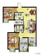 百合金山3室2厅1卫90--88平方米户型图