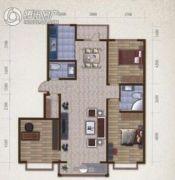 万象金川朗庭3室2厅2卫142平方米户型图