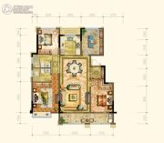 黄岩中梁香缇公馆4室2厅2卫133平方米户型图