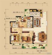 远辰龙湾名郡3室2厅2卫125--127平方米户型图