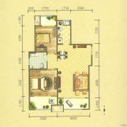 保利华庭2室2厅1卫102平方米户型图