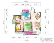 宏达世纪丽景3室2厅1卫90--111平方米户型图