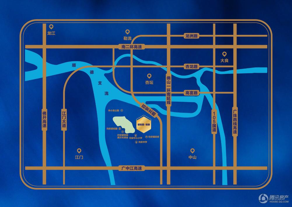 项目交通区域图